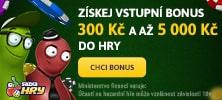 Získej vstupní bonus 300 Kč a 5 000 Kč na Sazka Hry
