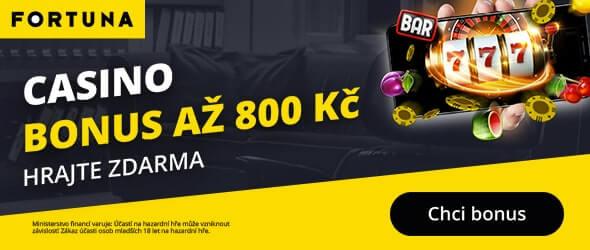 Online casino Fortuna s bonusem 800 Kč